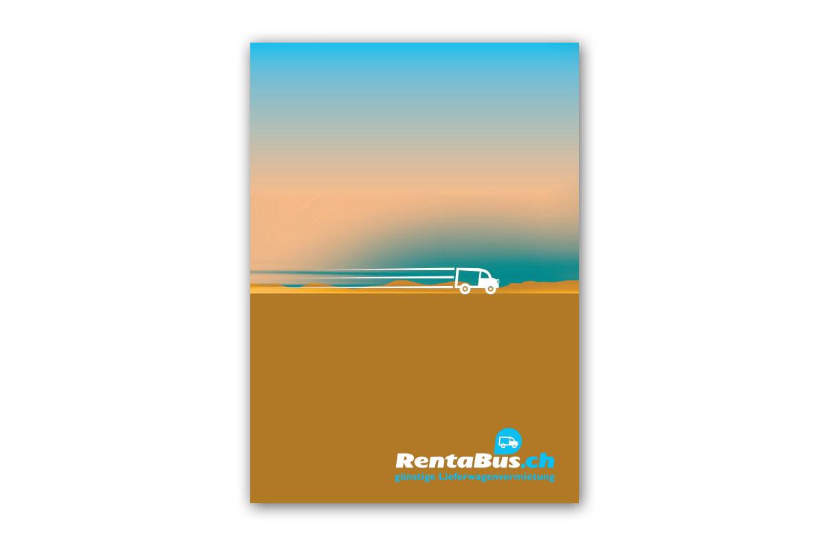 Postkarten Rentabus