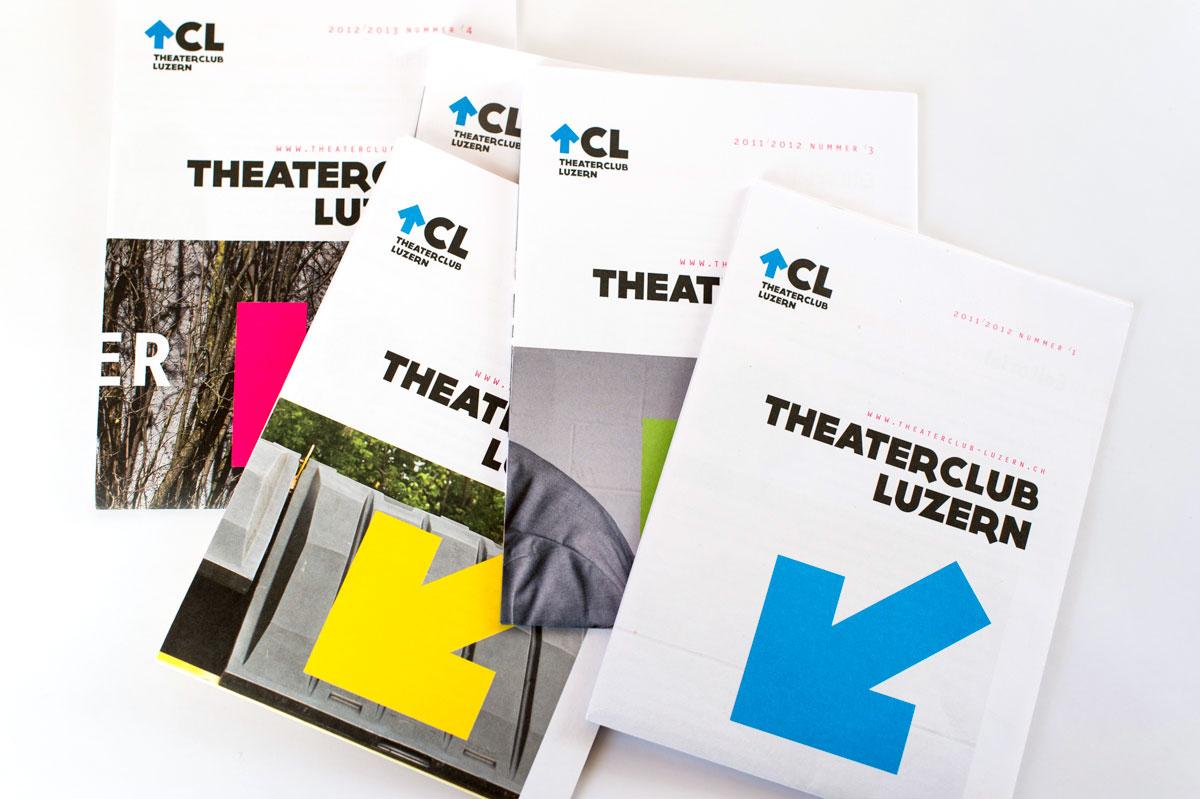 Covers Theaterclub Zeitungen